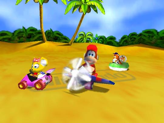 Diddy Kong Racing Nintendo 64 alkunäyttö
