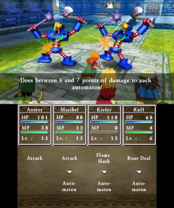Dragon Quest VII 3DS taistelu