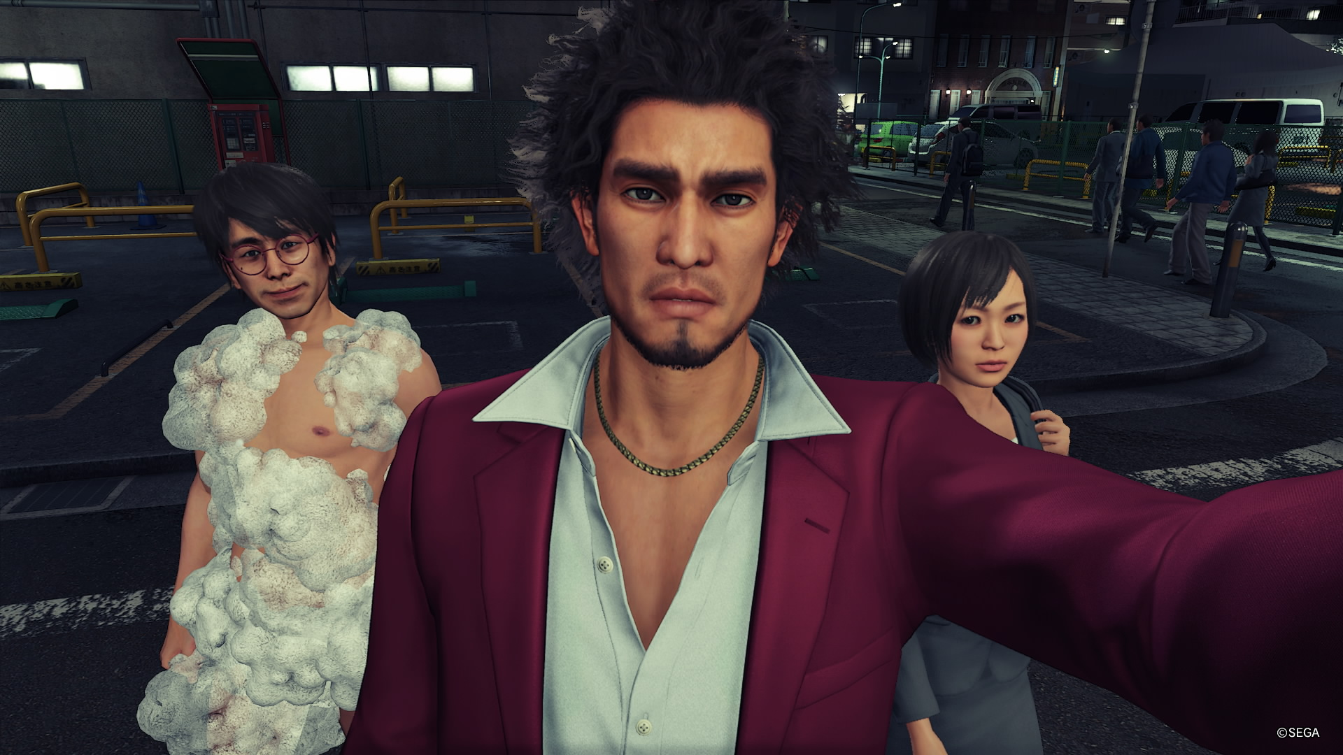 Yakuza: Like a Dragon täysin normaali tilanne Ijinchon kaduilla