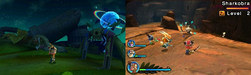 Ever Oasis Keidas taistelu 3DS