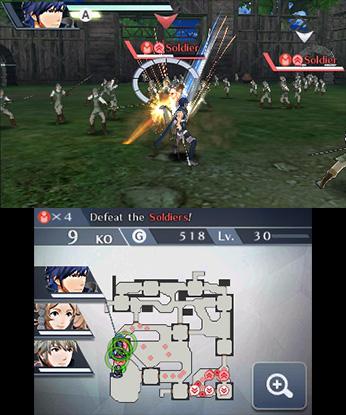 Fire Emblem Warriors 3DS kaksi näyttöä