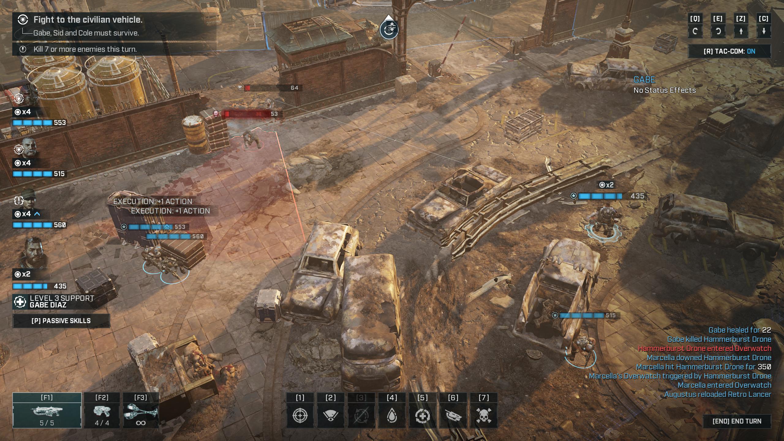 Gears Tactics tehtävällä