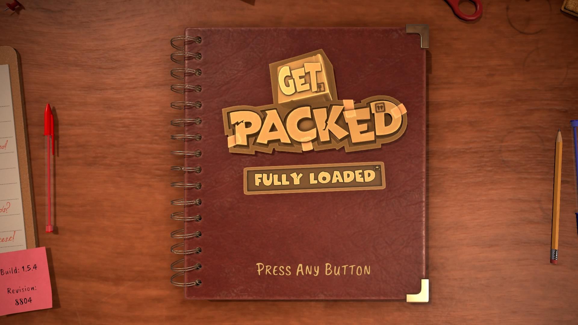 Get Packed start screen