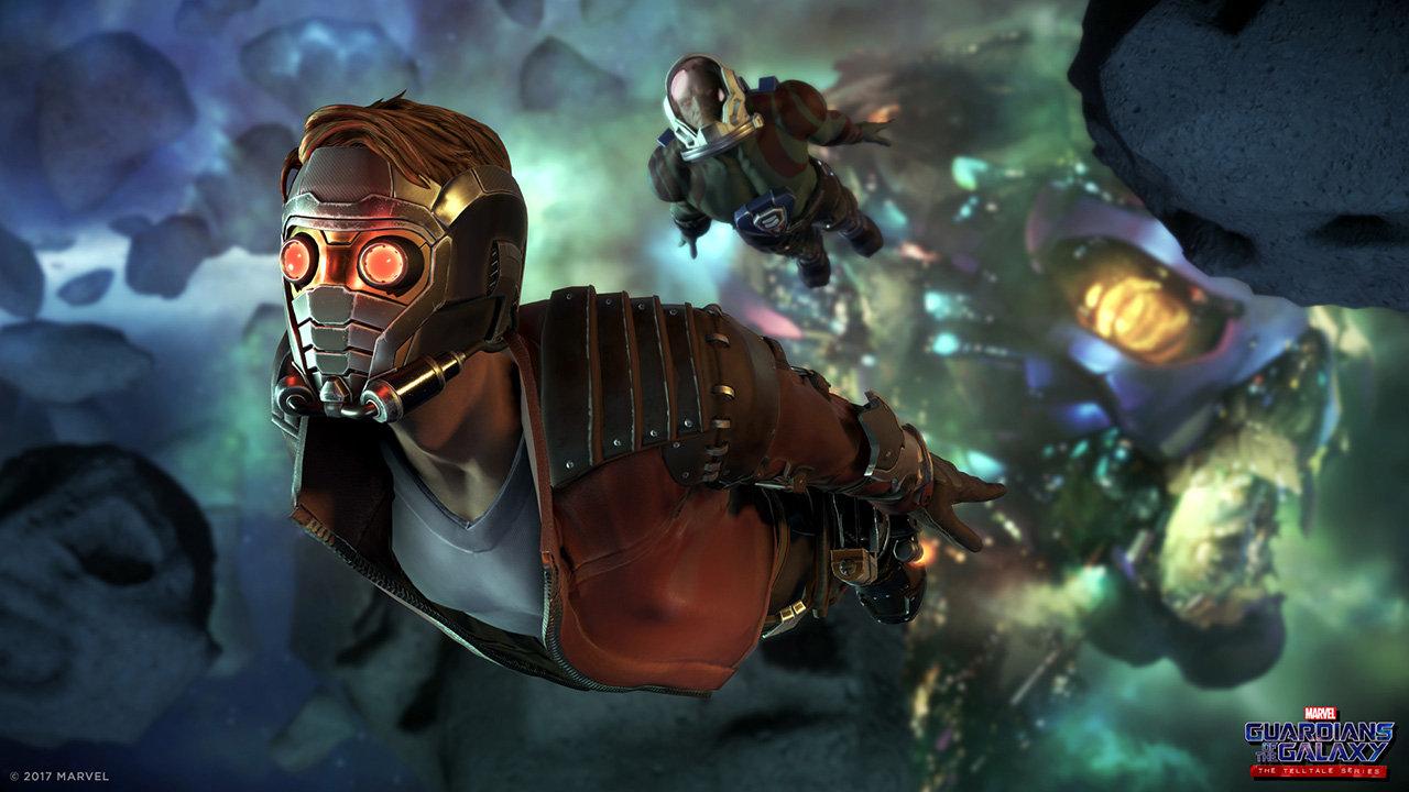 Guardians of the Galaxy The Telltale Series Star-Lord Drax avaruudessa