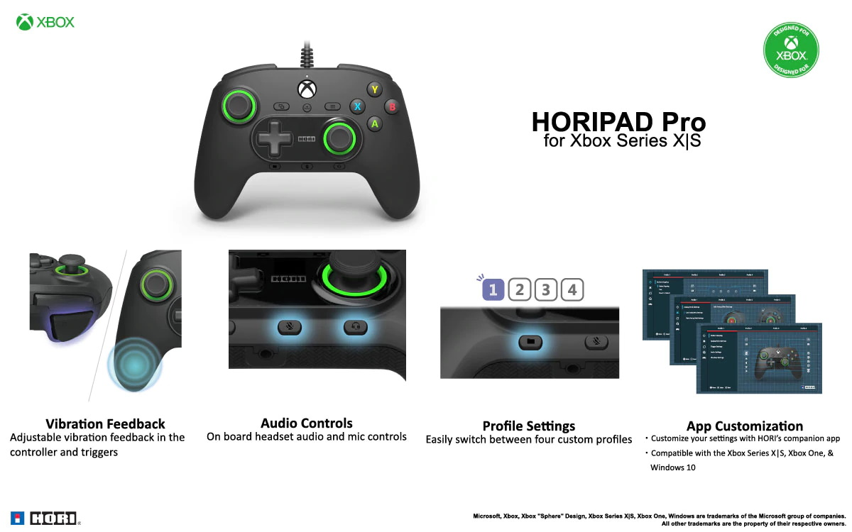Hori HORIPAD Pro Xbox Series X S