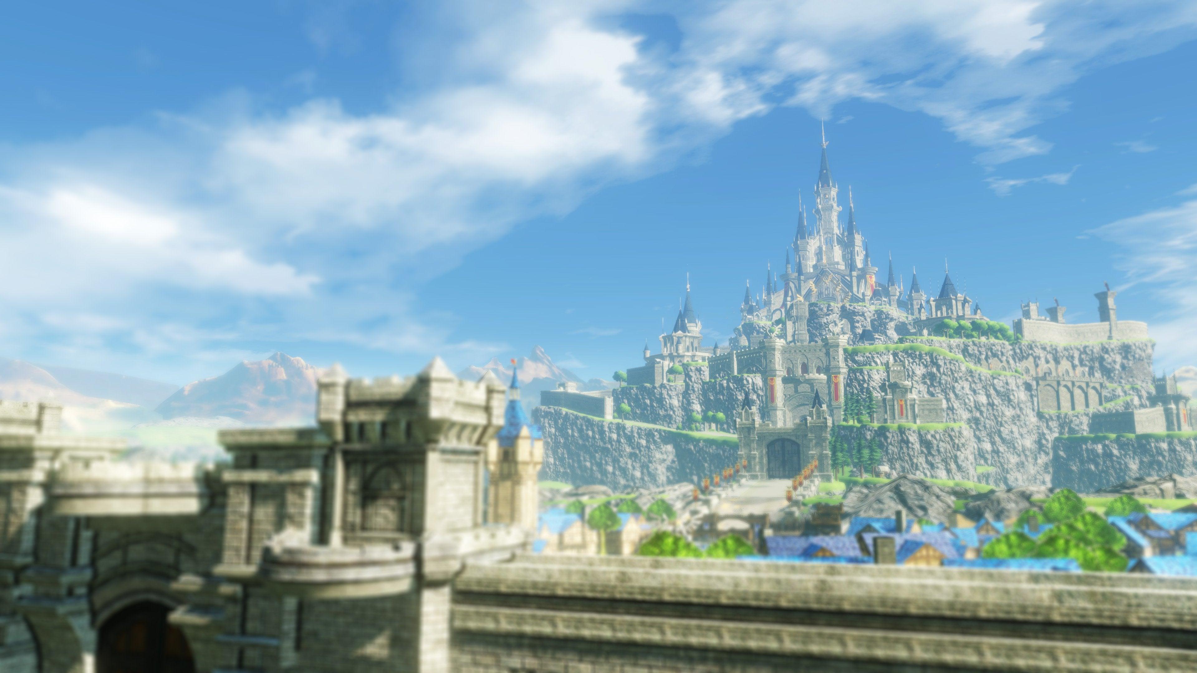 Hyrule Warriors Age of Calamity linnakaupunki castle town