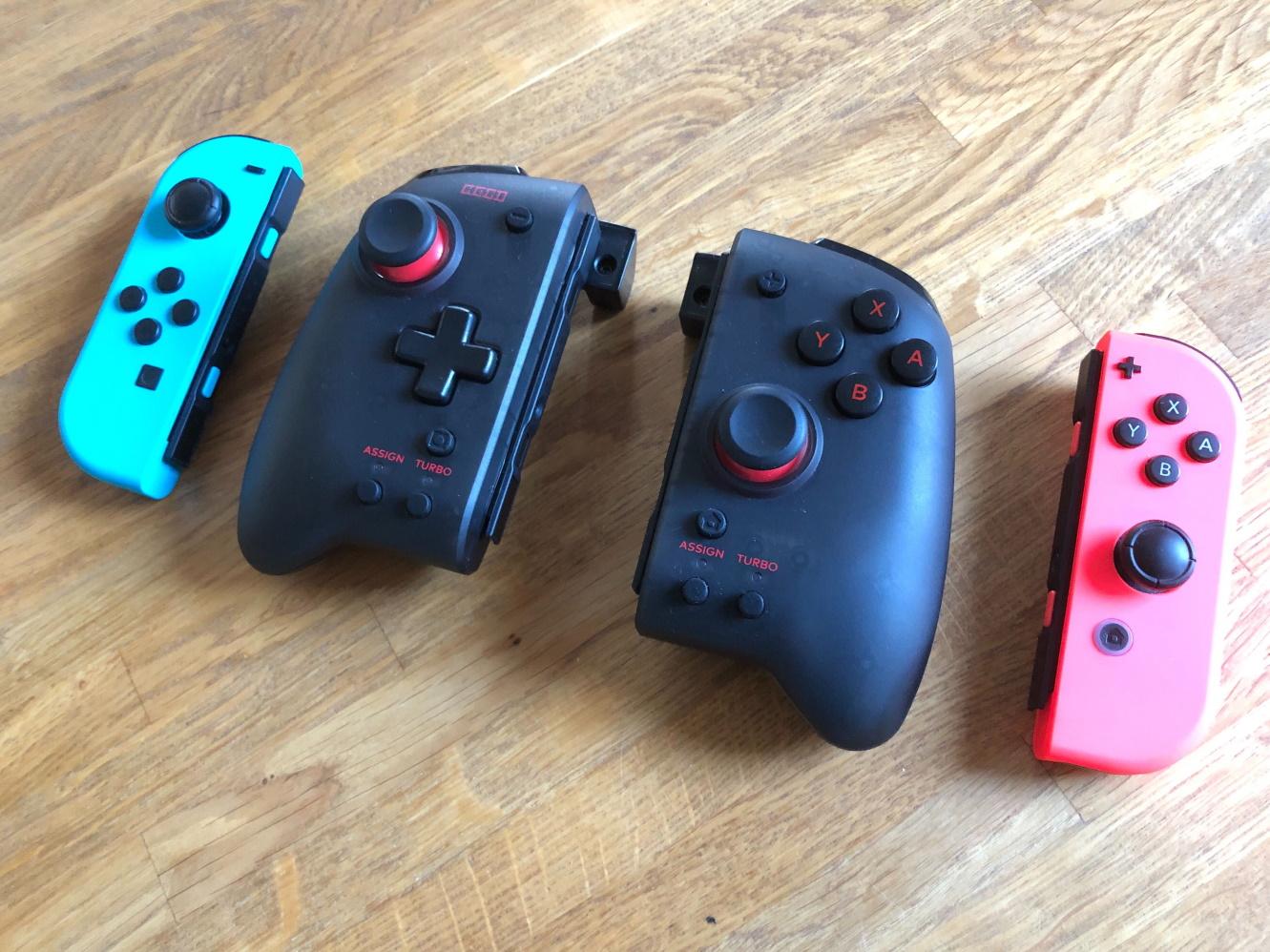 Hori Split Pad Pro Nintendo Switch ja Joy-con-ohjaimet