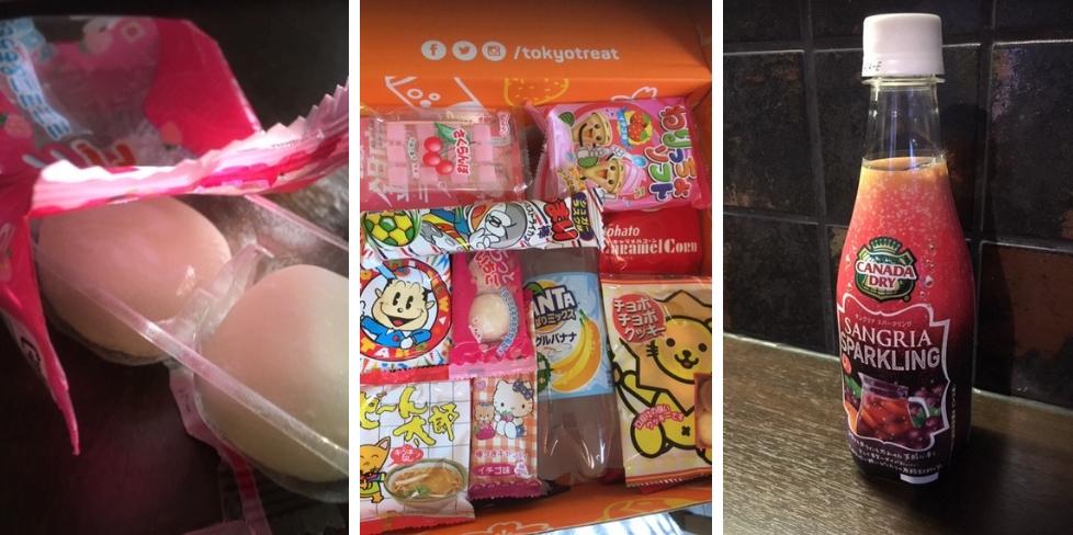 Tokyo Treat Sangria-cola palleroita ja paketin sisältö
