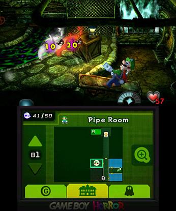 Luigi's Mansion 3DS imuroidaan haamuja