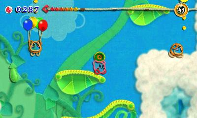 Kirby's Extra Epic Yarn Pilvissä