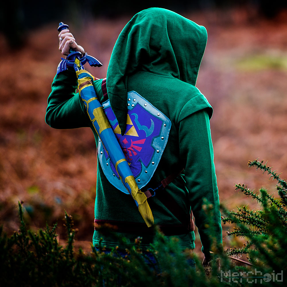 Legend of Zelda Master Sword Umbrella sateenvarjo kostyymi 3