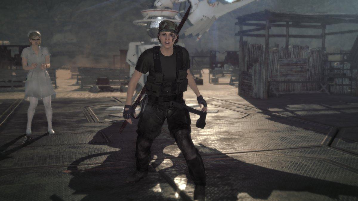Metal Gear Survive Omassa tukikohdassa hoitsun kanssa