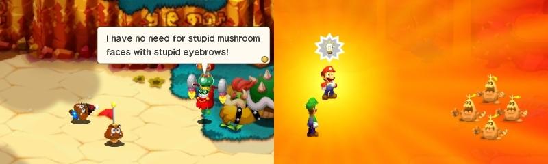 Mario & Luigi Superstar Saga Bowser's Minions goomba minion idea