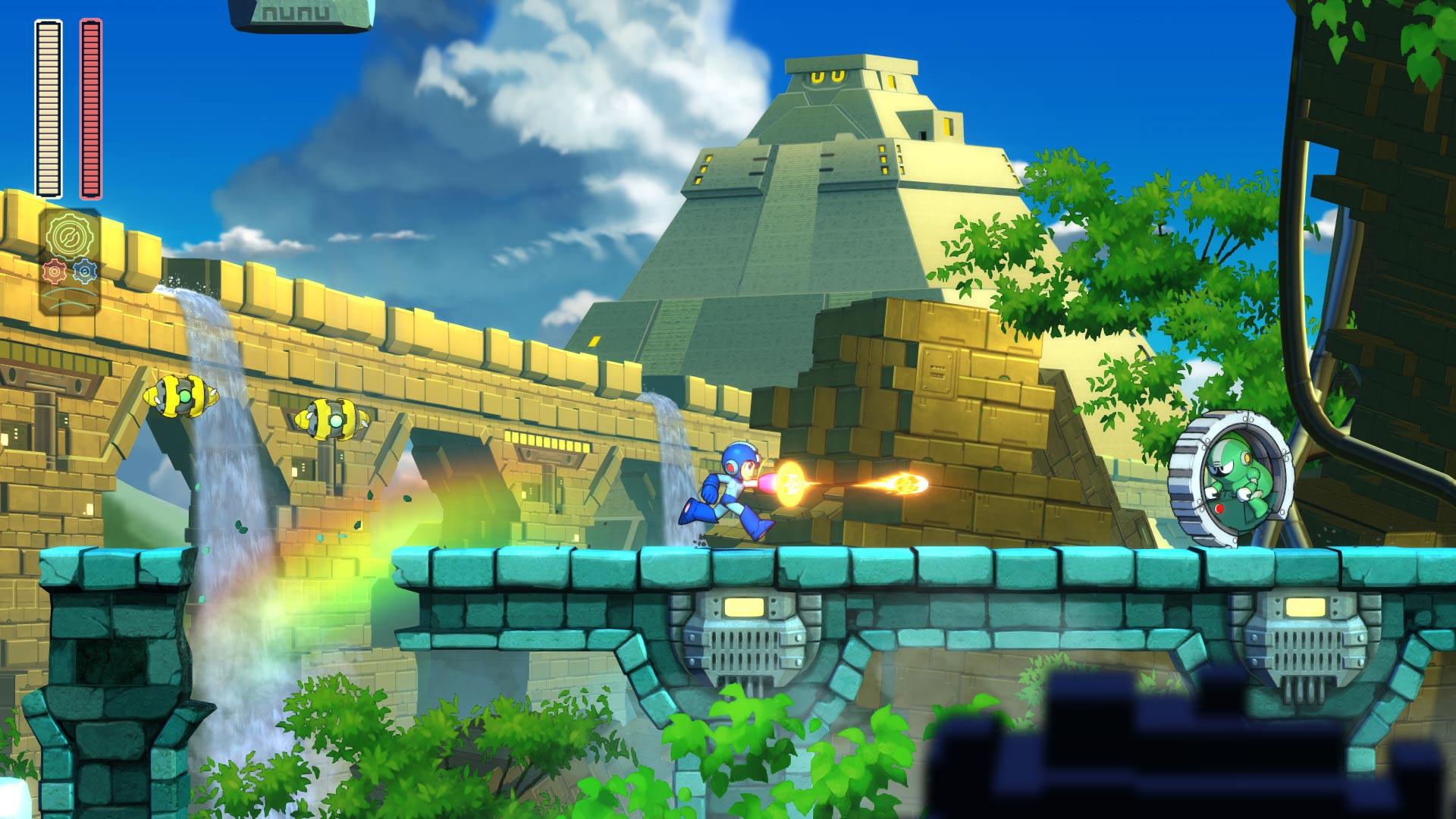 Mega Man 11 Block Manin kentässä