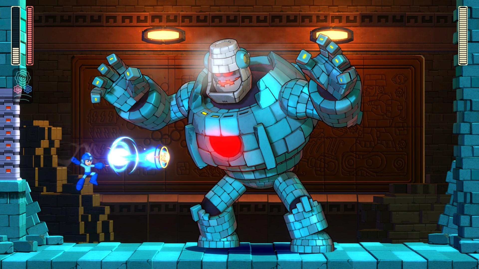 Mega Man 11 harvinaisen iso pomovastus