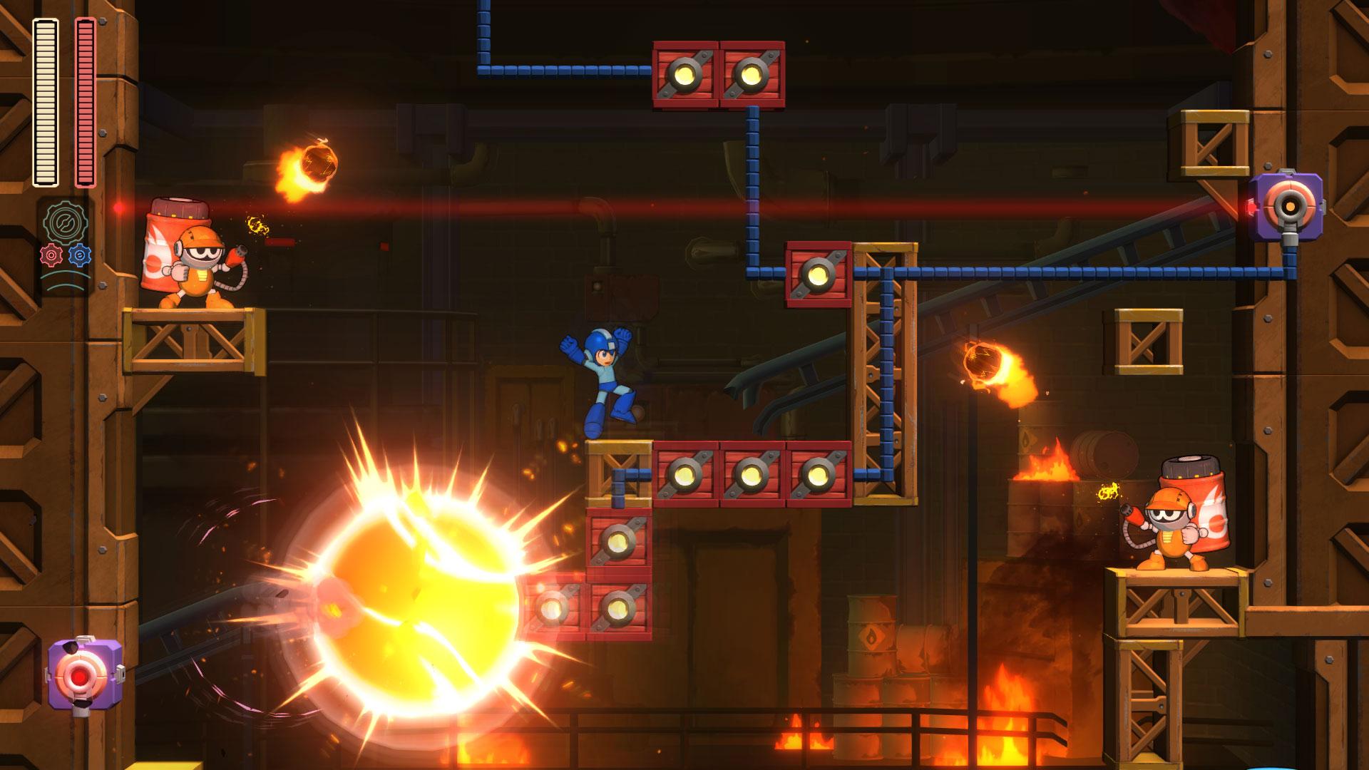 Mega Man 11 koeta tässä tasoloikata