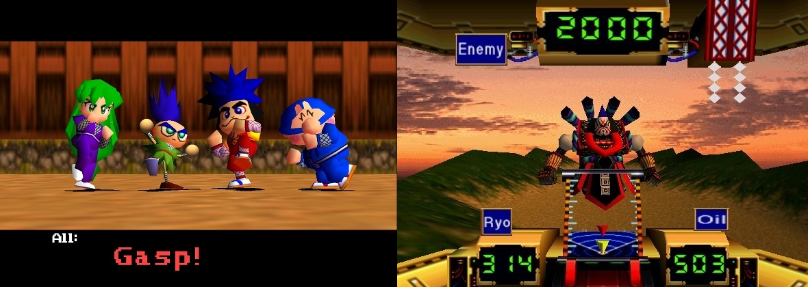 Mystical Ninja Starring Goemon Nintendo 64 kaikki hahmot ja taistelua