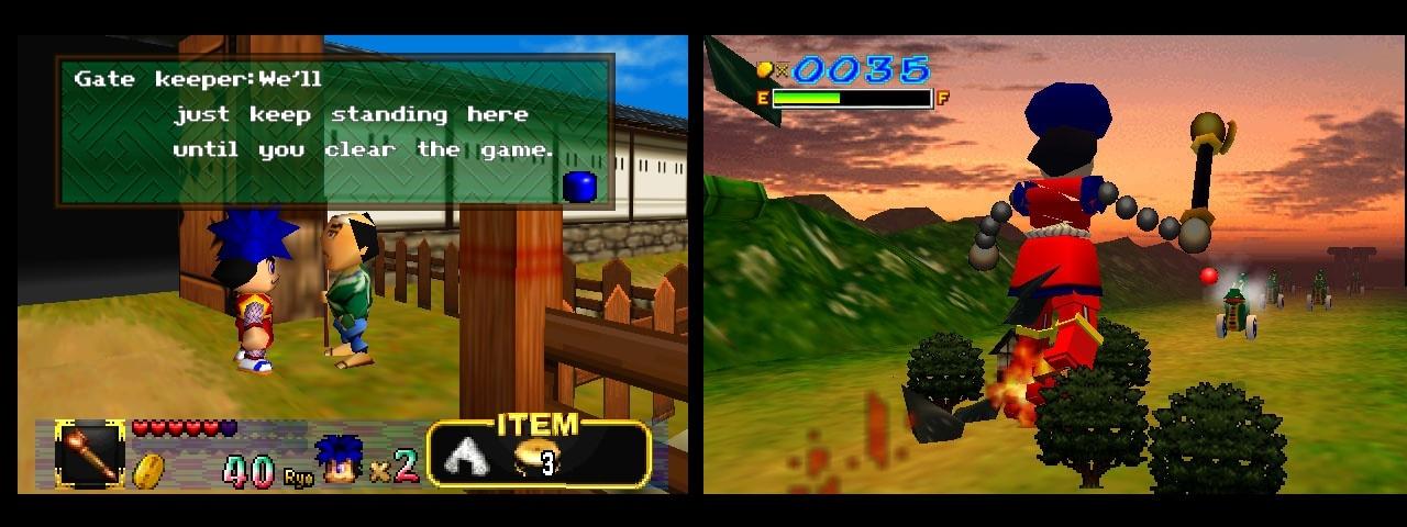 Mystical Ninja Starring Goemon Nintendo 64 vahditaan porttia ja impact