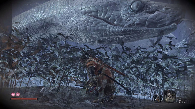 Sekiro Shadows Die Twice iso käärme saako nyt panikoida