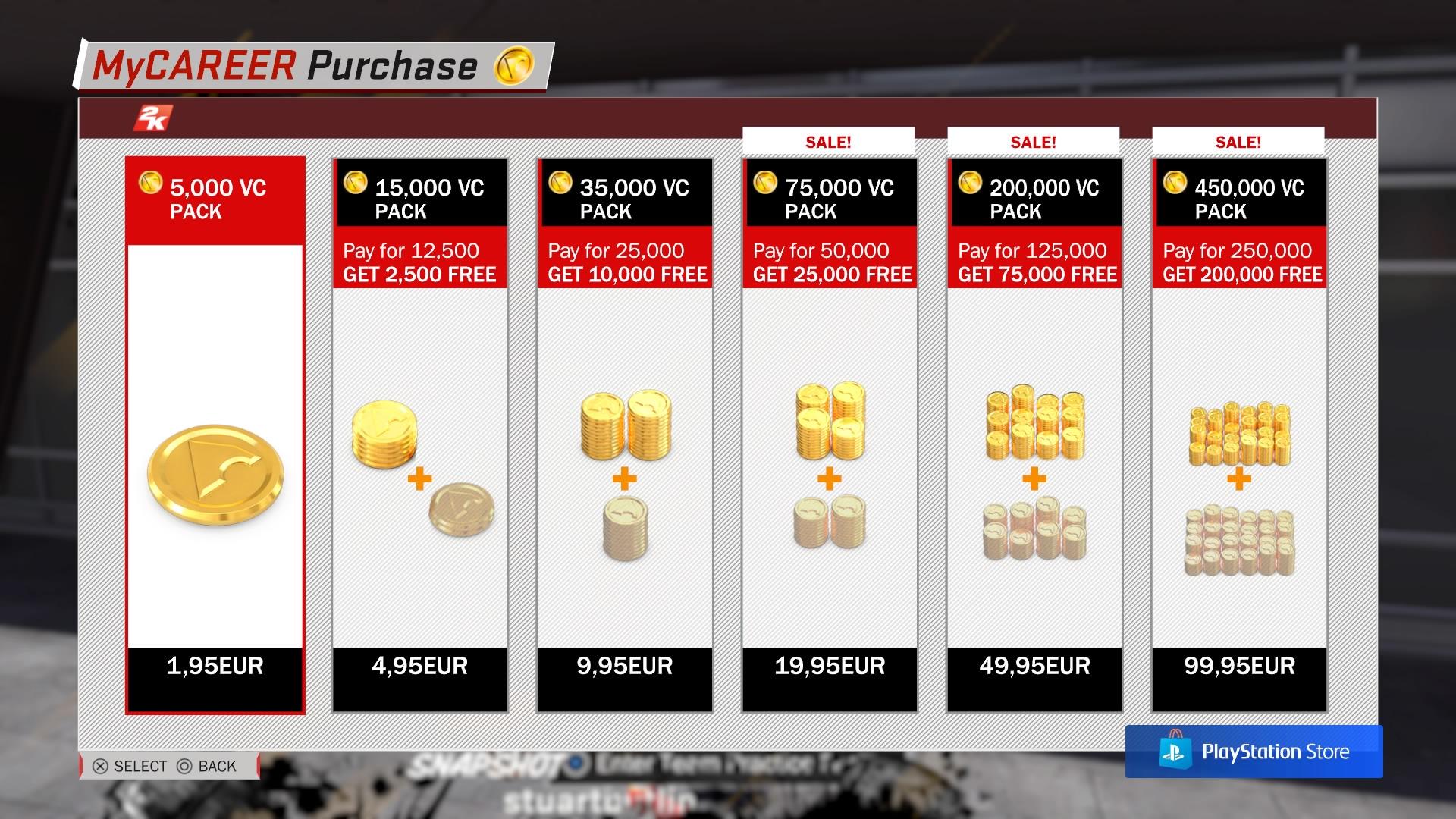 NBA 2K18 Virtuaalinen valuutta maksaa oikeaa rahaa