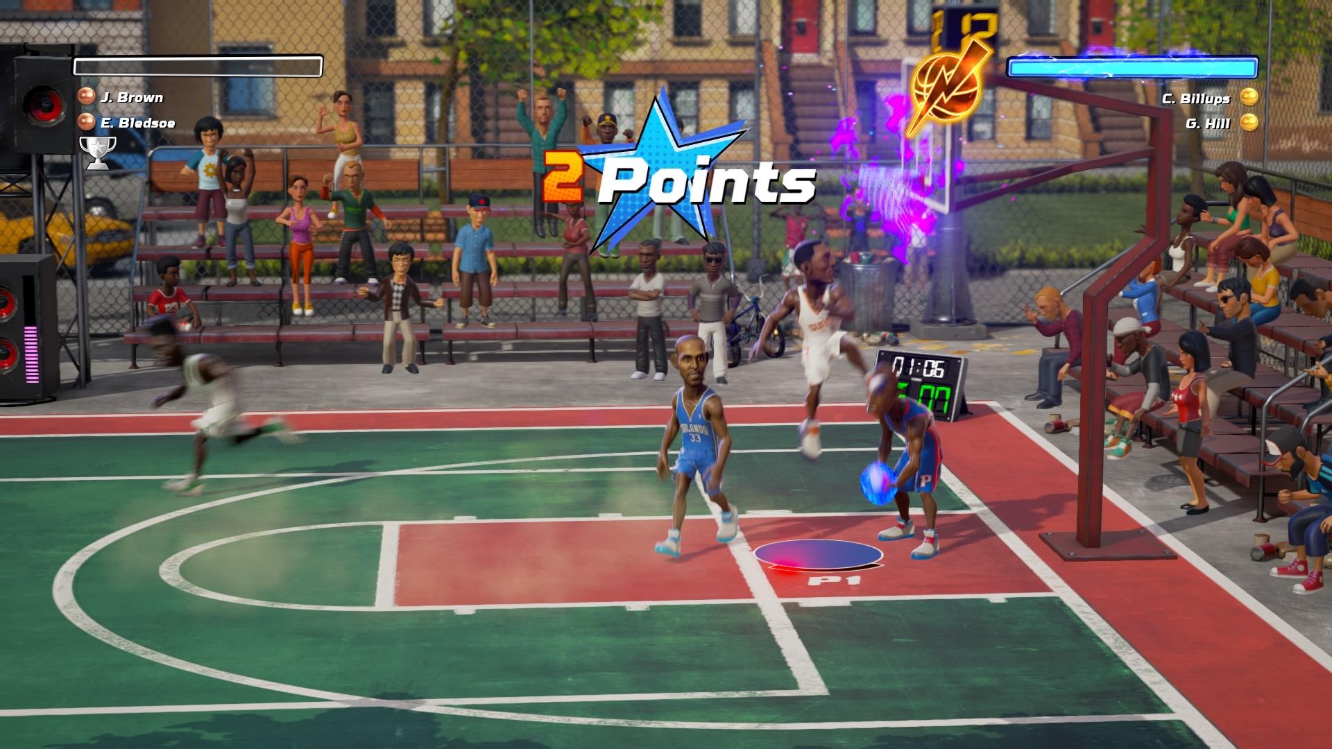 NBA Playgrounds pisteet