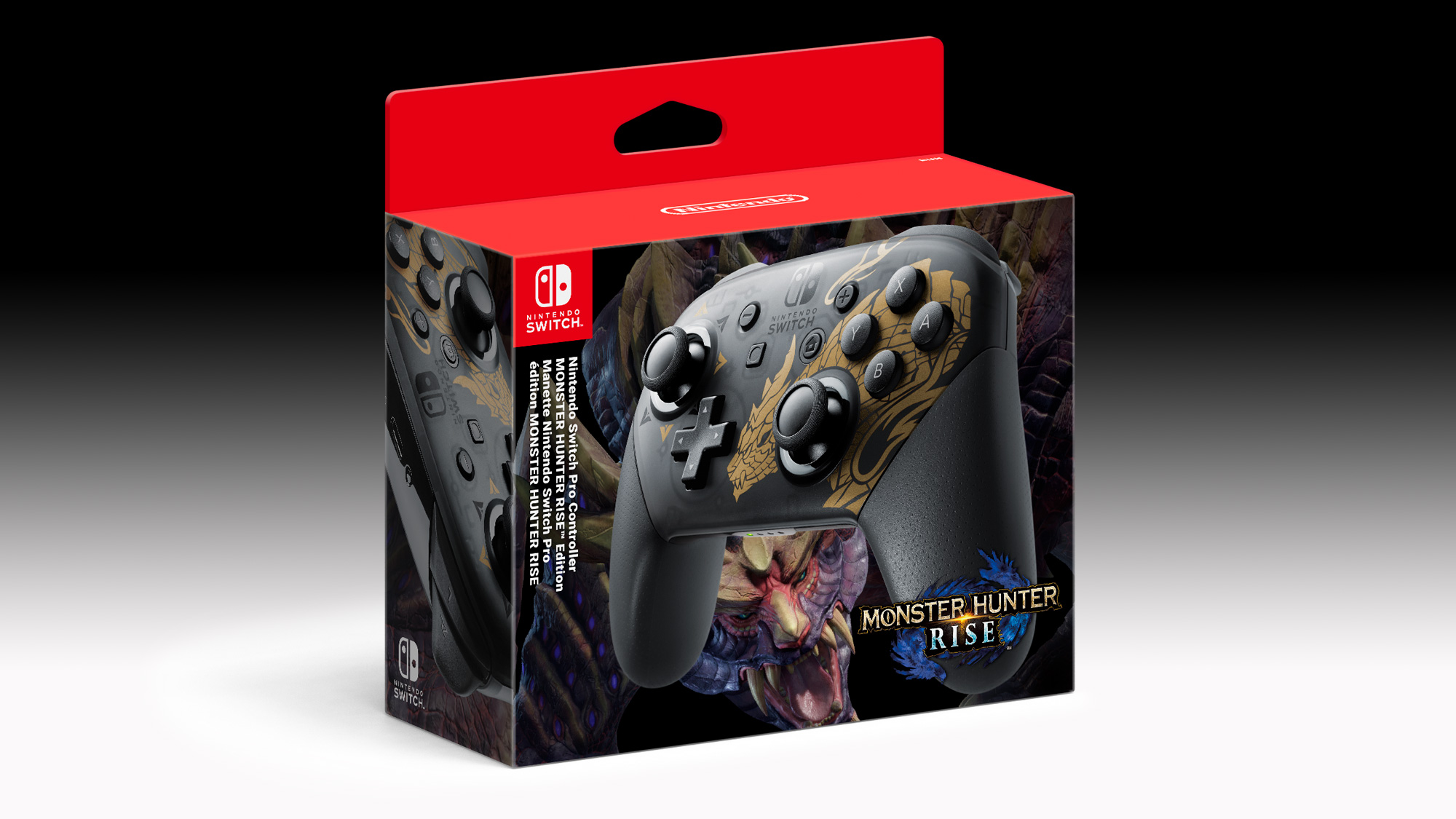 Nintendo Switch Monter Hunter Rise Pro controller ohjain