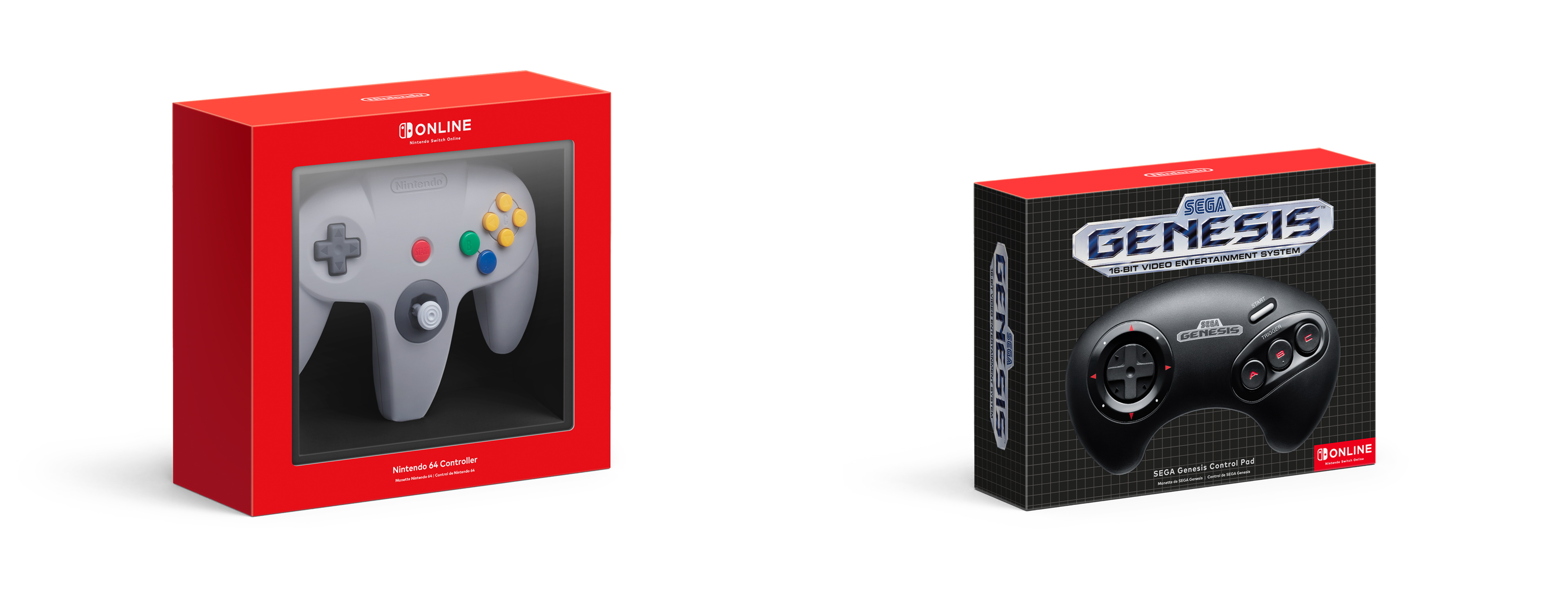 Nintendo Switch Online Nintendo 64 Sega Genesis Mega Drive ohjaimet