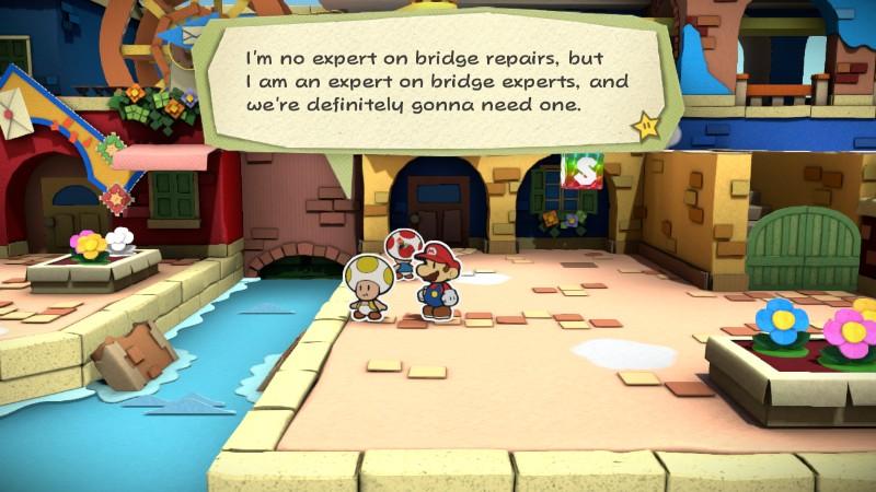 Paper Mario Color Splash Bridge expert