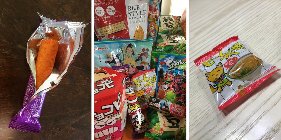 Tokyo Treat umaibo, paketti ja udon snack