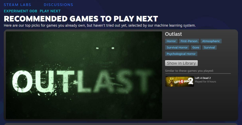 Steam Play Next Pelaa Seuraavaksi Steam Labs
