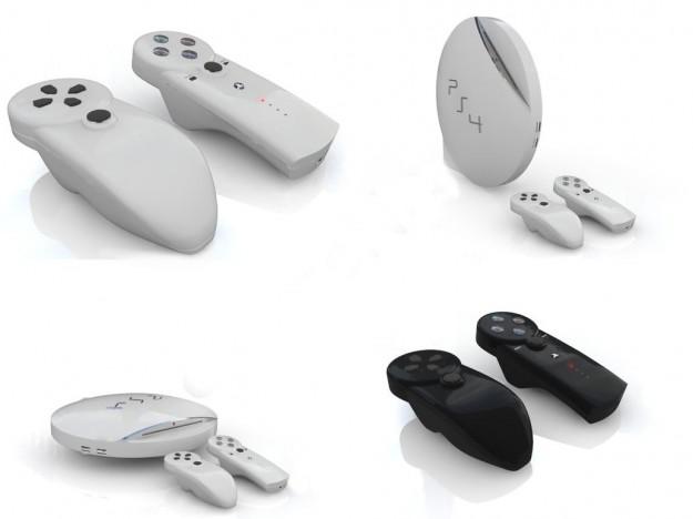 PlayStation 4 erilliset ohjaimet ja pallerokonsoli