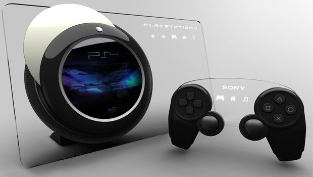 PlayStation 4 läpinäkyvä mockup malli