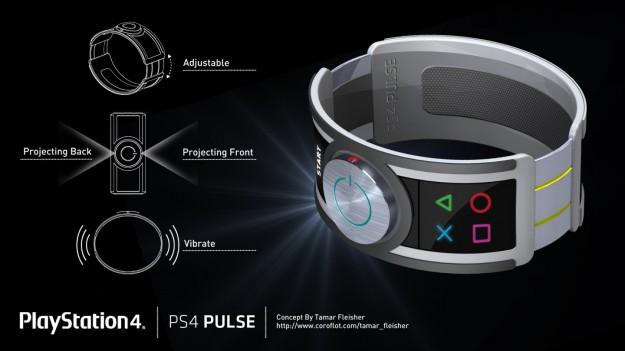 PlayStation 4 mockup malli ranneke