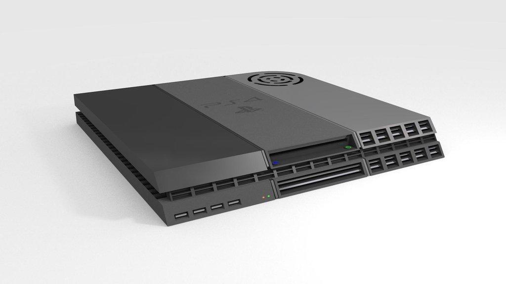 PlayStation 4 mockup malli teknohärveli