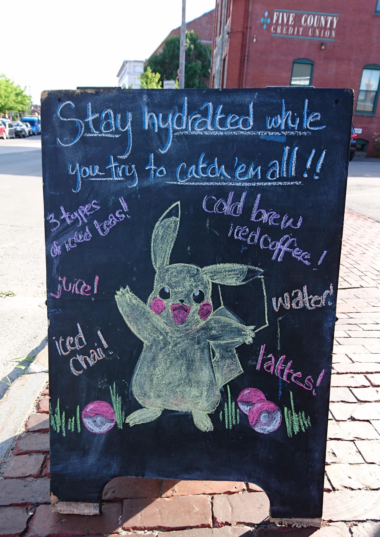 Pokemon-kyltti Kennebunkportissa Mainessa