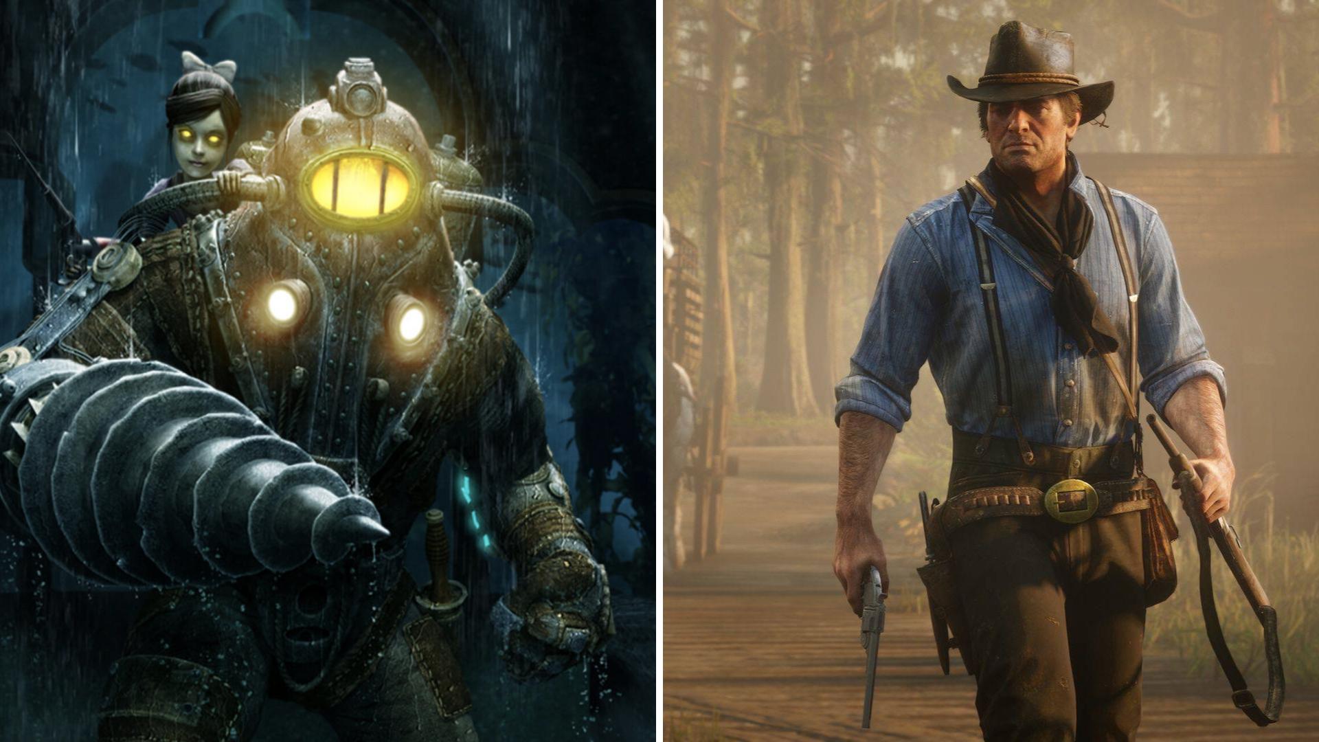 Bioshock ja Red Dead Redemption 2