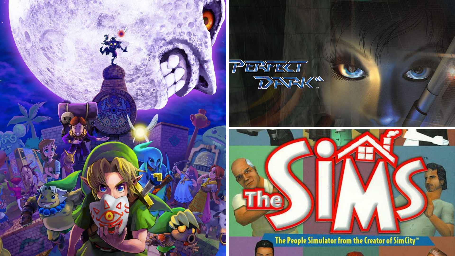 Zelda: Majora's Mask Perfect Dark The Sims