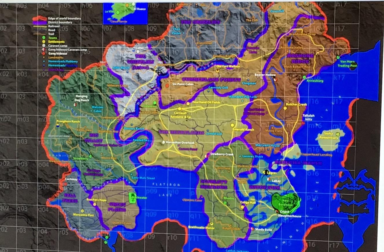 Red Dead Redemption 2 vuotanut kartta
