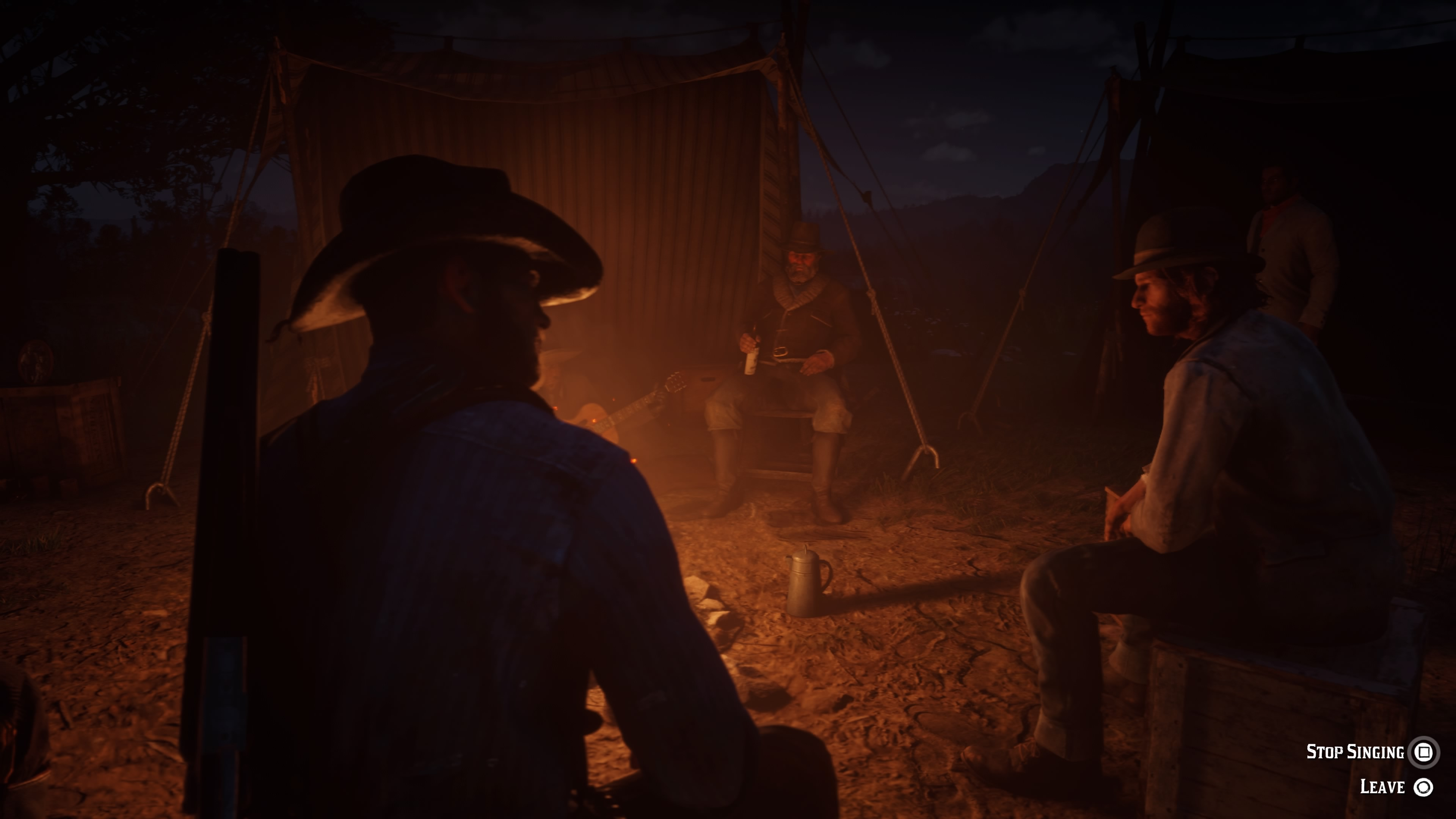 Red Dead Redemption 2 yhteislaulua nuotiolla