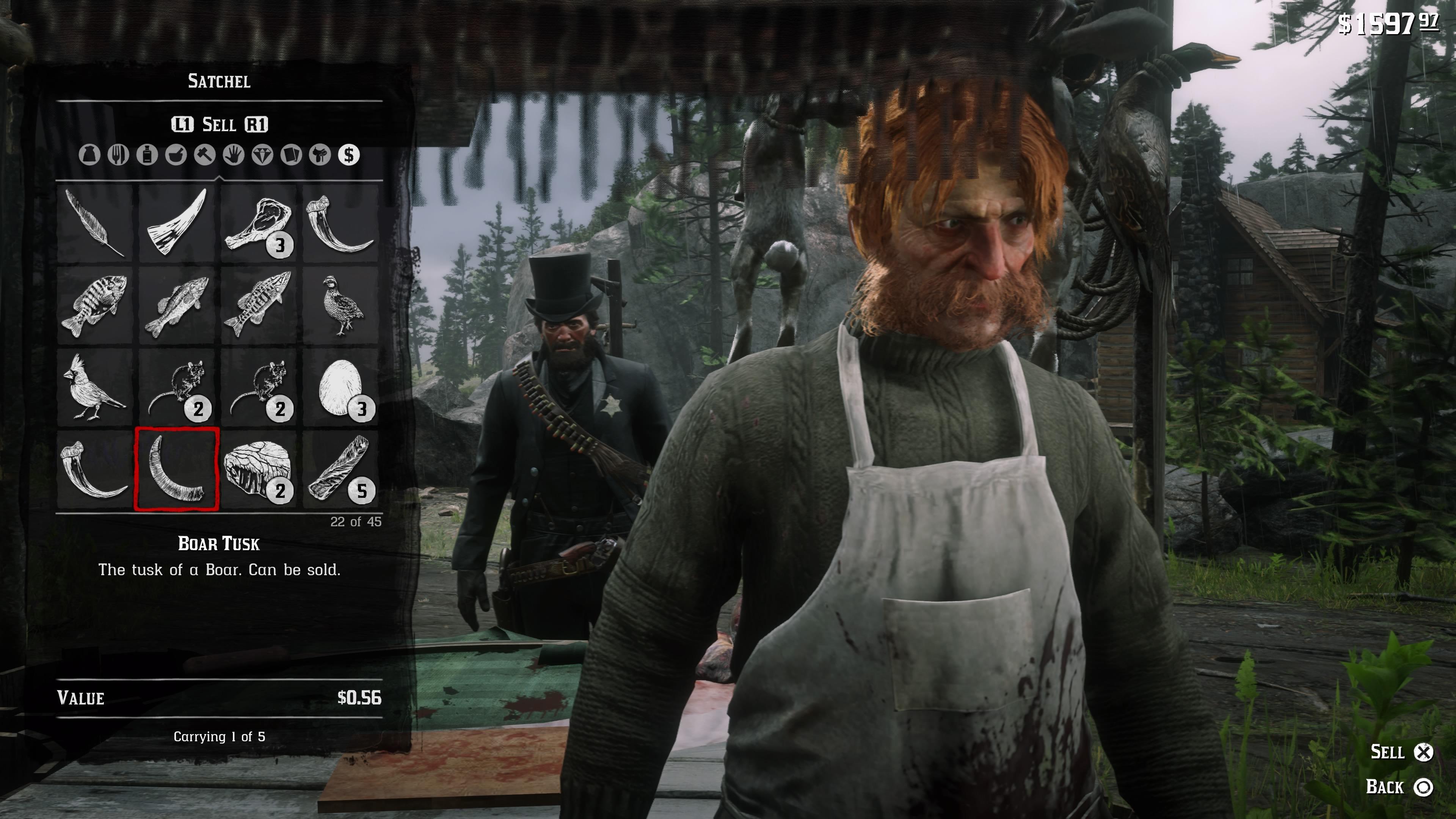 Red Dead Redemption 2 kauppiaan selän takana