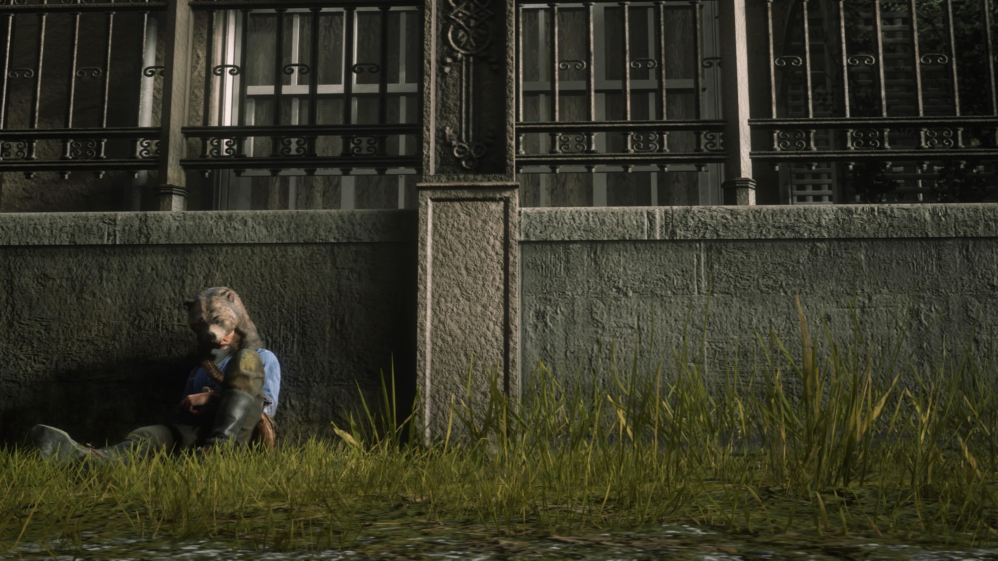 Red Dead Redemption 2 karhumies makoilee kadulla