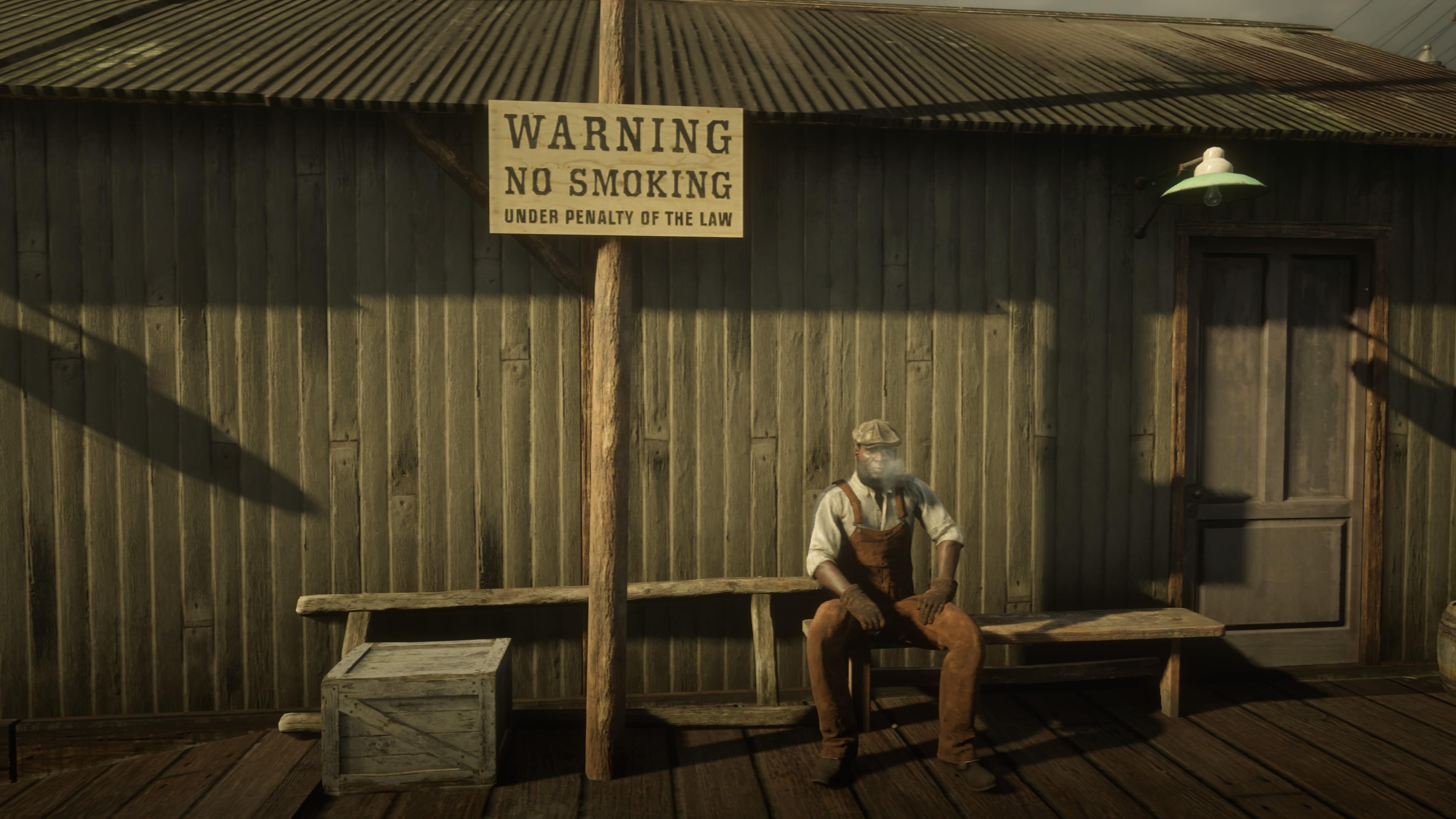 Red Dead Redemption 2 tupakointi kielletty