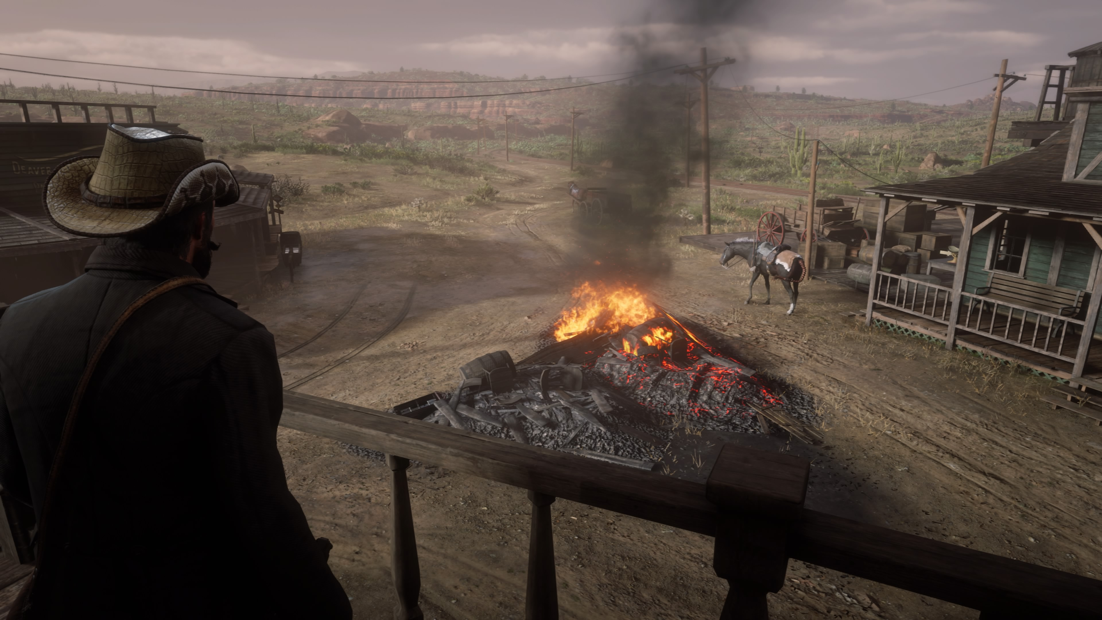 Red Dead Redemption 2 PS5 tulta kaupungissa
