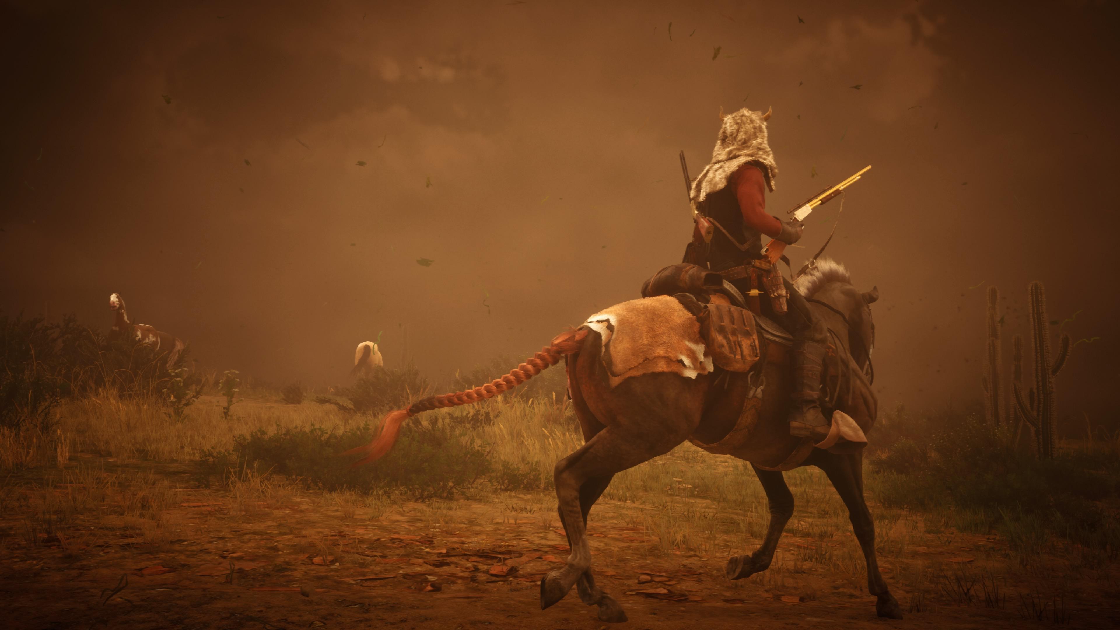 Red Dead Redemption 2 PS5 myrsky ja hevoset