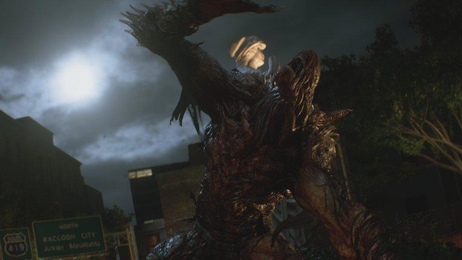 Resident Evil 3 remake Nemesis lähikuva