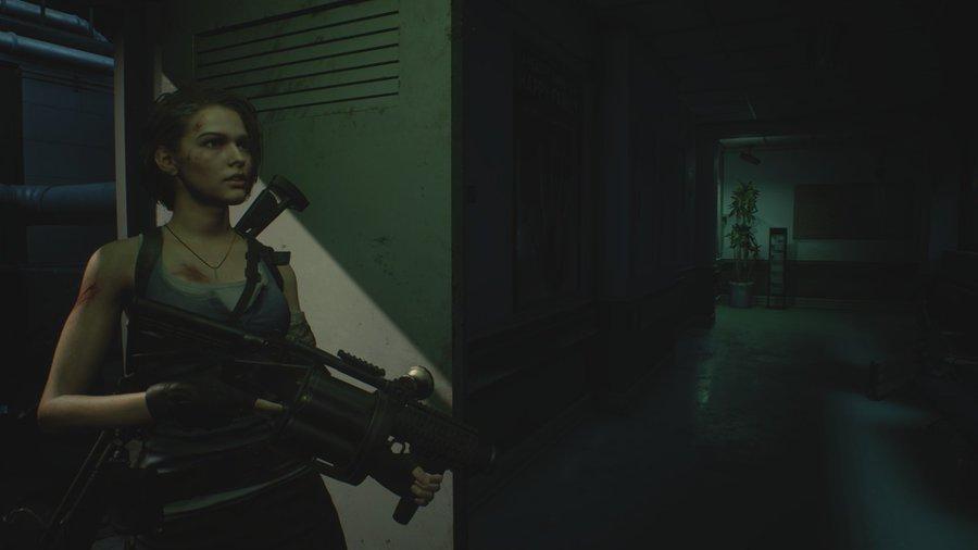 Resident Evil 3 Remake Jill Valentine varjoissa