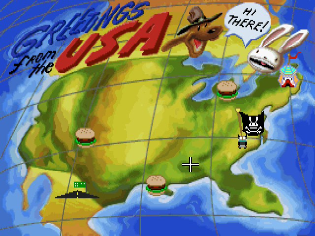 Sam & Max Hit the Road maailman eikun usan kartta