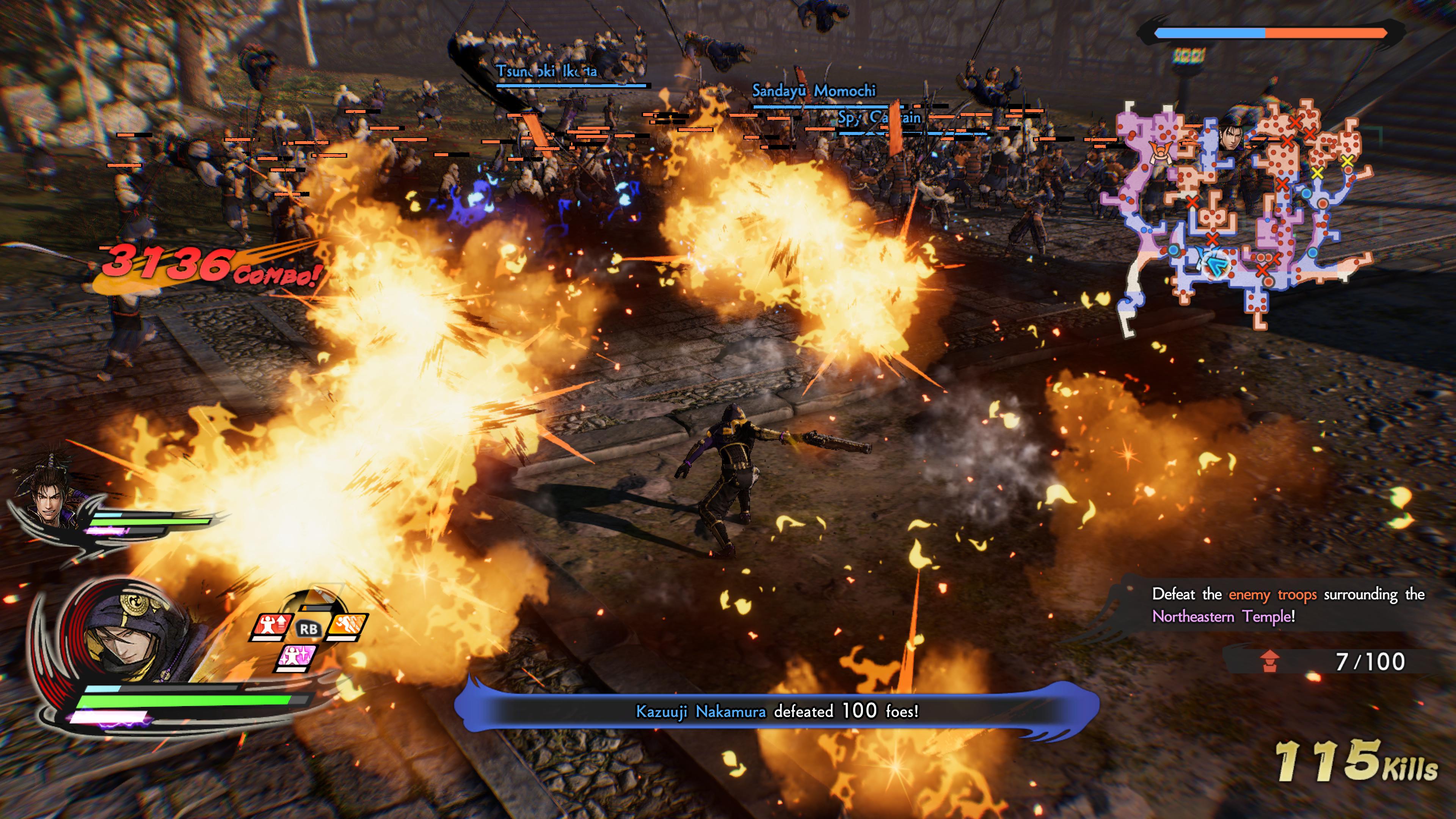 Samurai Warriors 5 pyssyllä kylvetään isoa tuhoa