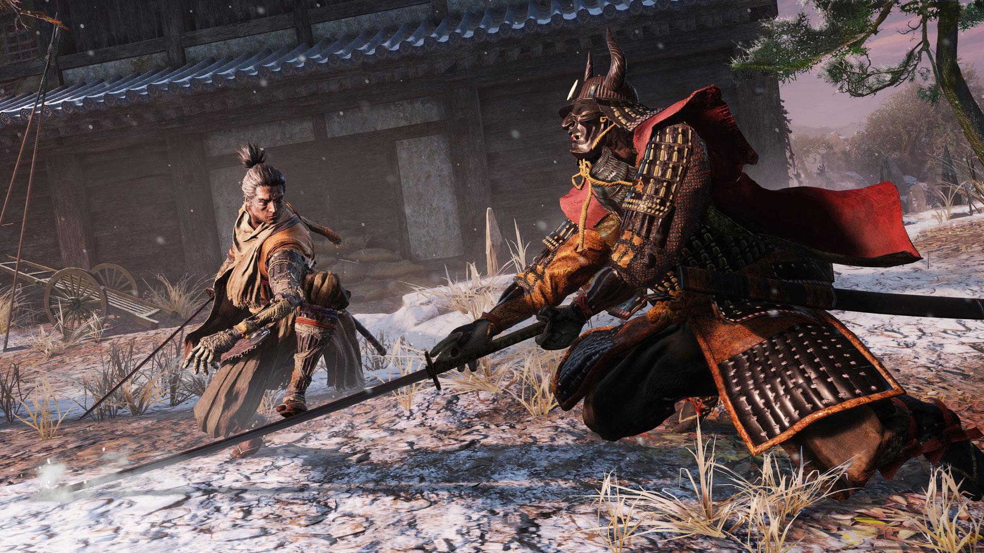Sekiro Shadows Die Twice taistelu alkamassa