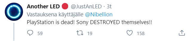 Sony on dööd sanoo tämä kommentaattori